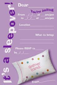 sleepover party invitations blueklip com