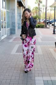 spring style maxi dress x moto jacket a beautiful rawr