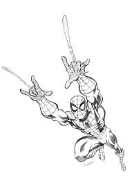cartoon spiderman drawing cartoon simplepict com