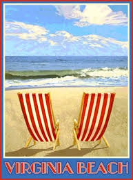amazon com virginia beach chairs art deco style vintage travel