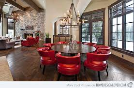 15 dining rooms in red black and white colors home design lover