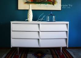 Painted Mid Century Furniture by The Turquoise Iris Furniture U0026 Art White U0026 Chrome Midcentury