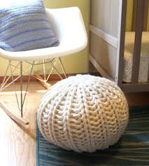 large knit pouf footrest home decor u0026 lighting mary marie