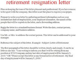 resignation letter format keeping the tone letters of retirement