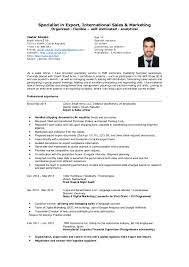 resume specialist mr javier alonso specialist in export international sales cv