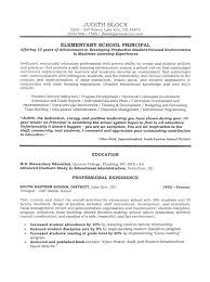 administrator principal u0027s resume sample educational