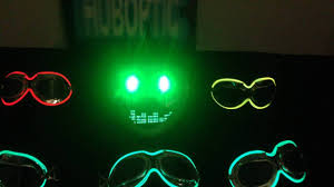 green eyes fx mask light up bow ties party mask dj helmet