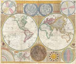 Map Of The World Art by A General Map Of The World Or Terraqueous Globe Wikipedia