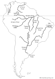 outline of south america map labeled outline map rivers of south america enchantedlearning