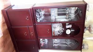 Mahogany Display Cabinets With Glass Doors by Mahogany Glass Display Cabinets Second Hand Household Furniture