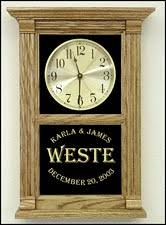 Personalized Anniversary Clock Personalized Custom Text Clocks Awards Clock Retirement Wood