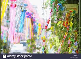 festival decorations japanese traditional tanabata festival decorations stock photo