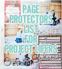 scrapbook page protectors pocket page protector options guide for project