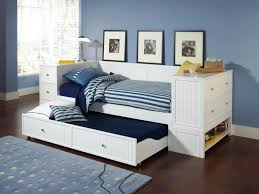 Daybed With Trundle And Mattress White Bookcase Daybed Storage With All American