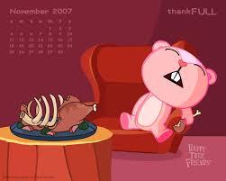 thanksgiving widescreen wallpaper turkey cute giggles sleeping calendar friends thanksgiving tree