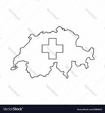 Map Icon Switzerland Map Icon Outline Style Royalty Free Vector Image