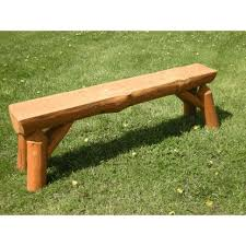Log Outdoor Furniture by Of Nature Red Pine Log Outdoor Bench