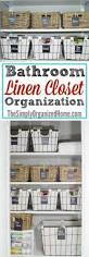 Linen Closet Bathroom Linen Closet Organization The Simply Organized Home