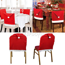 chair back cover santa hat shape chair back cover for dinner christmas