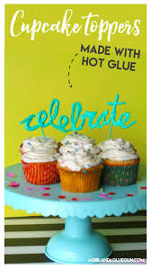in cake toppers glue gun cake toppers a girl and a glue gun