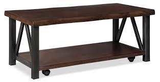 wood metal end table esmarina coffee table the brick