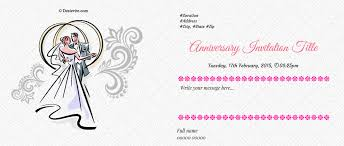 Online Invitations With Rsvp Free Wedding Anniversary Invitation Card U0026 Online Invitations