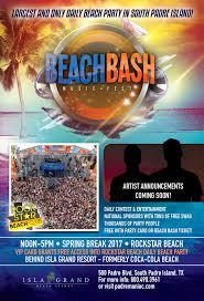 South Padre Island Map Beach Bash Music Fest Spring Break 2017 South Padre Island Texas