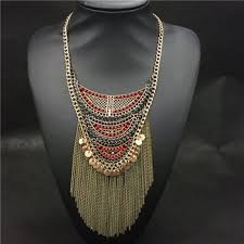 vintage necklace chains images Latest hot new design necklace jewelry vintage gold tassel chains jpg
