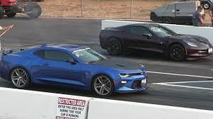 stingray camaro 2017 camaro 2ss vs c7 corvette stingray drag race stock vs stock