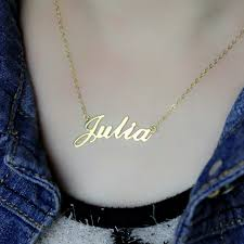 personalized gold jewelry personalized classic name necklace in 18k gold plated