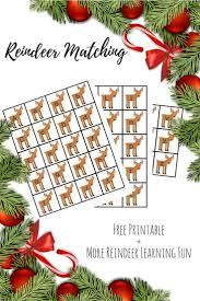 free printable reindeer activities reindeer letter matching game christmas literacy fun letter