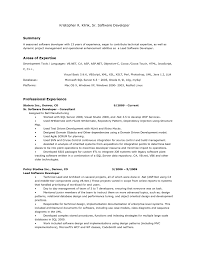 Asp Net Resume Sample by Short Resume Examples