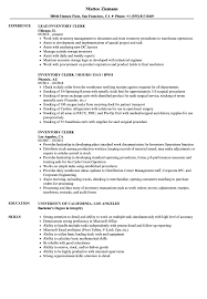 sle resume templates accountant trailers plus lodi inventory clerk resume sles velvet jobs