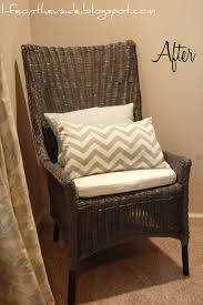 wicker chair makeover rustoleum granite minwax dark walnut on the