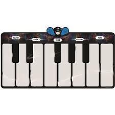 piano keyboard with light up keys aurora music mat 8 instruments 151 x 74 cm light up keys sunlin