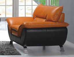 Comfortable And Modern Half Leather Living Room Arm Chair - Comfortable chairs for living room