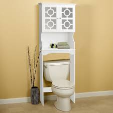 Bathroom Toilet Shelf by Over Toilet Cabinet White Bathroom Storage Rack Open Shelf Space