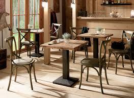 table cuisine bistrot mobilier pour restaurant