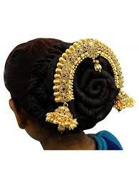 hair bun accessories traditional indian bridal gold tone bun pin ambada wedding