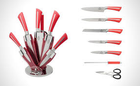 Red Kitchen Knife Block Set by 25 Of The Coolest Knife Blocks And Unique Knife Sets Awesome