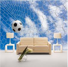 sports murals for bedrooms free shipping custom modern 3d large mural sports football tv