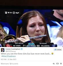 Crying Girl Meme - crying piccologirl is ncaa tournament s latest viral meme craze