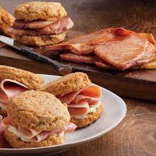 uncooked country ham slices u0026 biscuits edwards virginia smokehouse