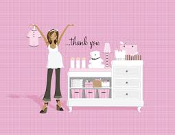 fn 068t glamour bridal shower classic thank you notes