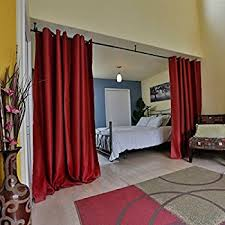 red and black curtains bedroom download page home design amazon com roomdividersnow muslin room divider curtain 8ft tall