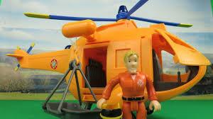feuerwehrmann sam fireman sam wallaby 2 helicopter unboxing