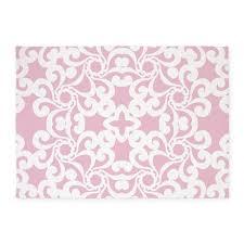 baby pink u0026 white lace tile 5 u0027x7 u0027area rug nursery and babies