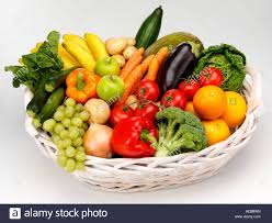 basket of fruits basket of fresh fruit and vegetables cut out stock photo 13629920