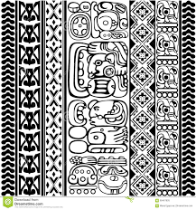 mayan glyphs stock illustration image 65497820