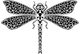 printable dragonfly stencils black and white dragonfly free download best black and white